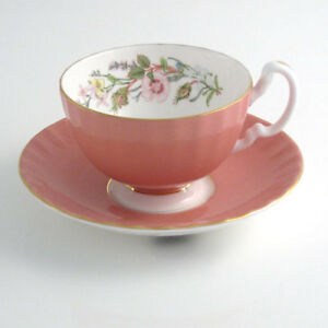 Aynsley Wild Tudor Oban Tea Cup & Saucer, 180 ml, New Condition