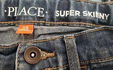 Boys Size 8 8s Super Skinny Jeans Children's Place adjustable waist EUC