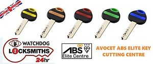 ABS Security Keys cut to code. ABS Key Cutting - Avocet