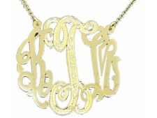 Personalized Diamond Look Satin Finish Nameplate Pendant Necklace Sterling Silve