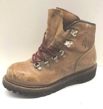 Vintage Vasque Mens Brown Suede Vibram Mountaineering Hiking Boots 9 D USA