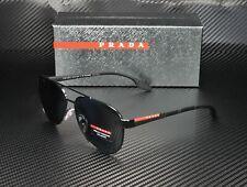 PRADA LINEA ROSSA PS 54TS 1AB5Z1 Black Polarized Grey Men's Sunglasses