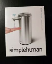 NEW SimpleHuman ST1043 Touch-Free Liquid Soap Dispenser Rechargeable Brushed 9oz