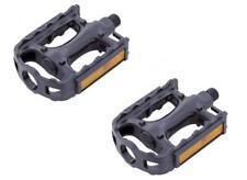"VP Components 9/16"" Adult Bike Replacement MTB ATB Pedals Black Resin Reflectors"