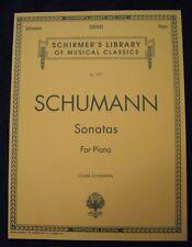 Schumann Sonatas For Piano-Schirmer Vol. 1997 Nos-4Qsmc