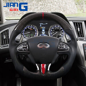 Sport Carbon Fiber Steering Wheel Fit in Infiniti 2013-2017 Q50