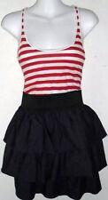 MILEY CYRUS / MAX AZRIA TIERED DENIM RED STRIPE DRESS - Size Small (New w/ Tags)