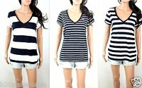 NWT Abercrombie Women's T Shirt Renee V Neck Classic Fit By Hollister