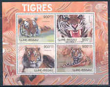 GUINEA BISSAU 2012 FAUNA TIGERS SHEET OF FOUR STAMPS