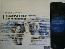 "Does it Matter? Frantic Language 12"" ART012T 1998"