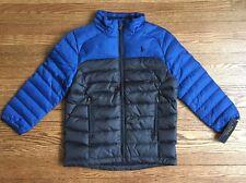 Polo Ralph Lauren Boys Down Jacket SIZE 5 Puffer Coat Winter Fall Blue NWT $135