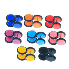 16Pcs Women Men Cheater Faux Fake Ear Plugs Flesh Tunnel Gauges Tapers Stretch