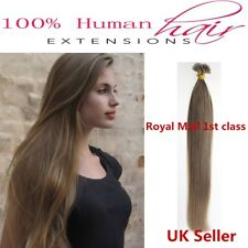 """Best Quality 18"""" 1g 7A Nano Ring Double Drawn Remy Human Hair Extensions UK 1st"""