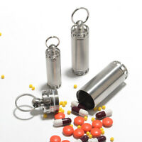 WaterProof Pill Box Bottle 304 Stainless Steel Container Medicine Case UK