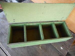 Green Handmade Cubby Box Primitive Barn Wood Rustic Box Center Piece Shelf Crate