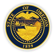 Seal Sticker of Oregon State for Motorcycle Scooter Door Book Tool Box Computer