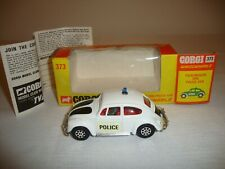 CORGI 373 VOLKSWAGEN 1200 POLICE WHIZZWHEELS - NR MINT in original BOX