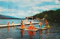Postcard Culvermere Culver Lake NJ Swimmers Posted 1956
