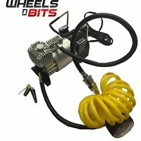 Car van 4x SUV Air Compressor With Airline an Gauge Quick Inflate Fast Connector