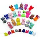 Lot 10= 5 Random Swimsuit Beach Swimwear Clothes 5 Slippers For Barbie Doll Gift