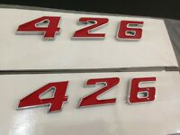 DODGE 7.2 7.2L 440 ENGINE ID FENDER HOOD SCOOP QUARTER TRUNK EMBLEMS NEW CHROME