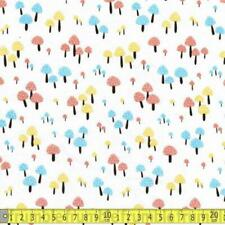 Timeless Treasures Fabric Magic Mushrooms White HALF METRE