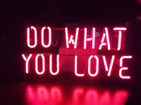 """14""""x7""""DO WHAT YOU LOVE Neon Sign Light Party Wall Decor Visual Artwork Display"""