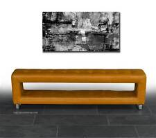 Small storage leather seating bench depth just 30 cm, length 150 cm. Leather tan