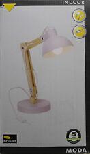 BRILLIANT MODA Tischleuchte Parma Tischlampe Schreibtischleuchte E27 Holz Metall