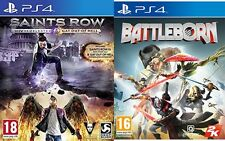 Saints Row IV Re-elected/ Saints Row Gat Out of Hell & battleborn  new&sealed
