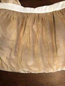 Ralph Lauren Tan Velvet Bedskirt