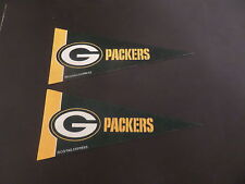 LOT OF 2- GREEN BAY PACKERS NFL BRAND NEW MINI PENNANT 4 X 9 BY RICO