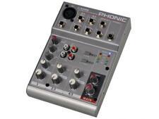 Phonic AM 55 Mixer Professionale Compatto con 5 Ingressi - Nuovo
