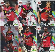 PANINI FOOTBALL 2014 2015 ADRENALYN CARDS LOT DE 6 CARDS GAME EAG GUINGAMP