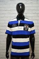 RALPH LAUREN Maglia Uomo Polo Blu Maglietta Taglia L Shirt Men's Herrenhemd