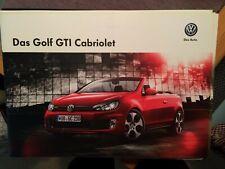 """Prospekt/Broschüre """"Das neue Golf GTI Cabriolet"""" incl Preisliste,2012 13 Seiten"""