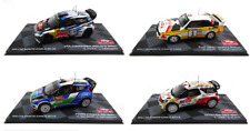 Set of 4 Model Cars 1:43 Rally Monte Carlo WRC - Volkswagen Citroën Ford Audi