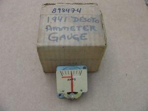 1941 Desoto Deluxe Custom S8 NOS MoPar AMMETER AMP GAUGE #898474