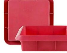 2 x Large rectangular Silicone Cake Mould Pan - Non Stick Baking Tray Mould