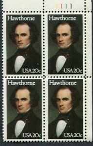 GREAT AMERICAN AUTHOR NATHANIEL HAWTHORNE - 1983 Scott 2047 US 20c MNH-OG (590a)
