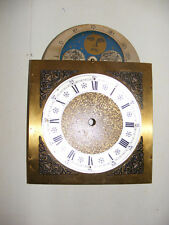 Vintage Grandfather Clock Face Dial Blue Star Moon Face - I-2