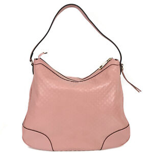 NEW/AUTHENTIC GUCCI Microguccissima Leather Hobo Shoulder Bag