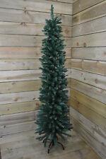 "220cm (7ft 3"") Premier Pencil Style Slim Christmas Tree in Green"