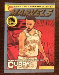 2020-21 Donruss Net Marvels #17 Stephen Curry Golden State Warriors SP