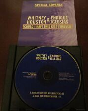 WHITNEY HOUSTON ENRIQUE IGLESIAS COULD I HAVE THIS KISS FOREVER CD PROMO ADVANCE