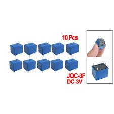 10 x DC 3V Coil 10A/125V AC 10A/28V DC 5 Pins SPST Power Relay JQC-3F LW SZUS