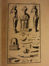 1722 Montfaucon Archaeology EGYPT Mummies Celtic Druids Pagan Death Ritual Lamps