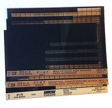 OEM Fiat X1/9 Bertone 1979 Dealer Parts Manual Microfiche Set