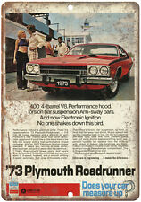 """1973 Plymouth Road Runner 10"""" x 7"""" Reproduction Metal Sign"""