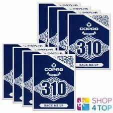 8 Jeux Copag 310 Arrière Me Up Poker Playing Cartes Papier Standard Indice Bleu